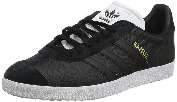 adidas Damen Gazelle Sneaker Schwarz mit schwarzen Streifen