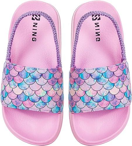 Girls Summer Slippers Disney Soft Sole Water Shoes Anti-slip Beach Baby Sandals