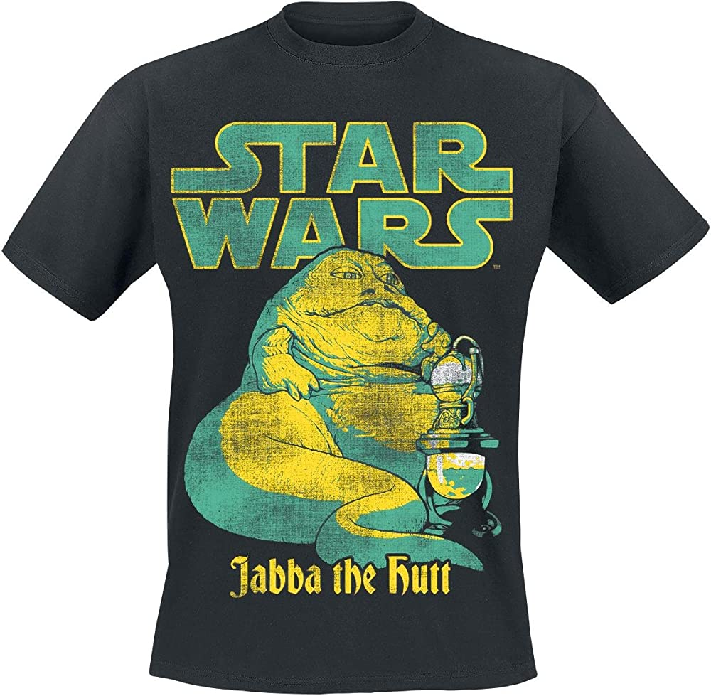 Star Wars T Shirt Jabba The Hutt Official Mens Black