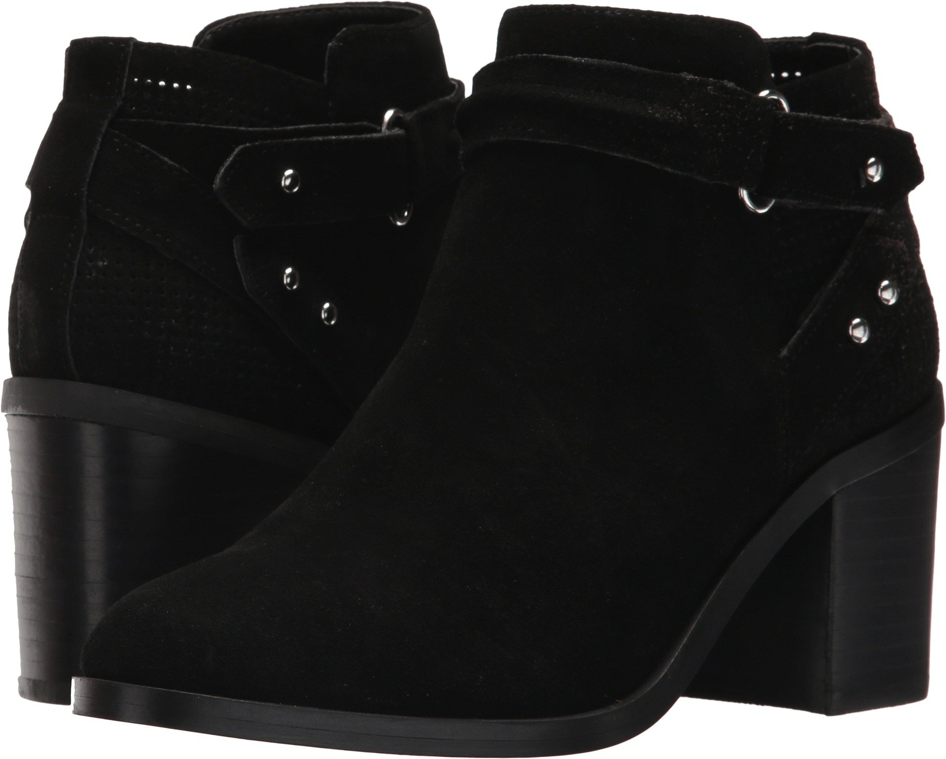 Steve Madden Women's Pati Ankle Boot, Black Suede, 9 M US