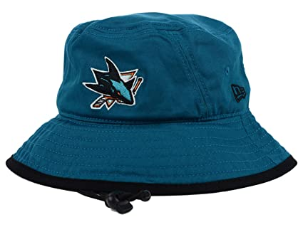 14409158a10 Amazon.com   San Jose Sharks NHL New Era Tipped Teal Bucket Boonie ...