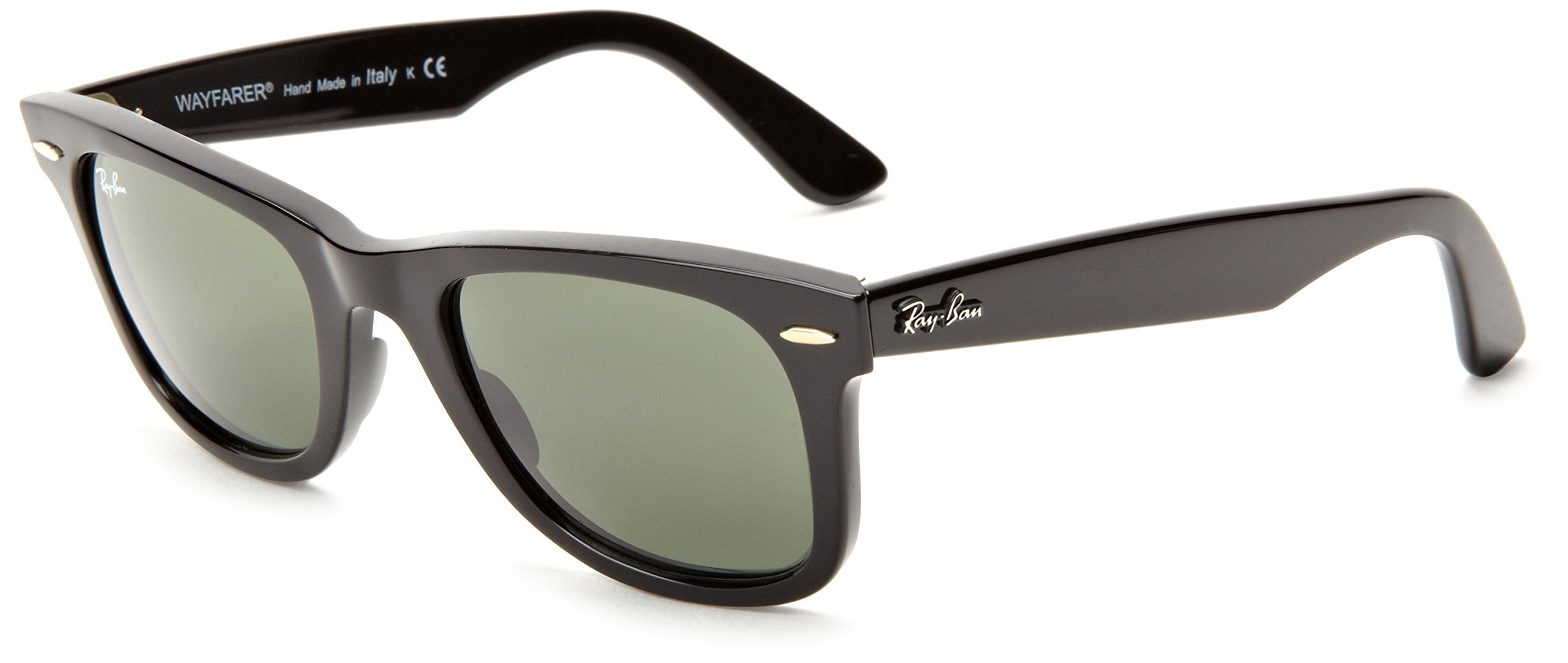 Ray-Ban 0RB2140 Original Wayfarer Sunglasses, Black, 54mm by Ray-Ban