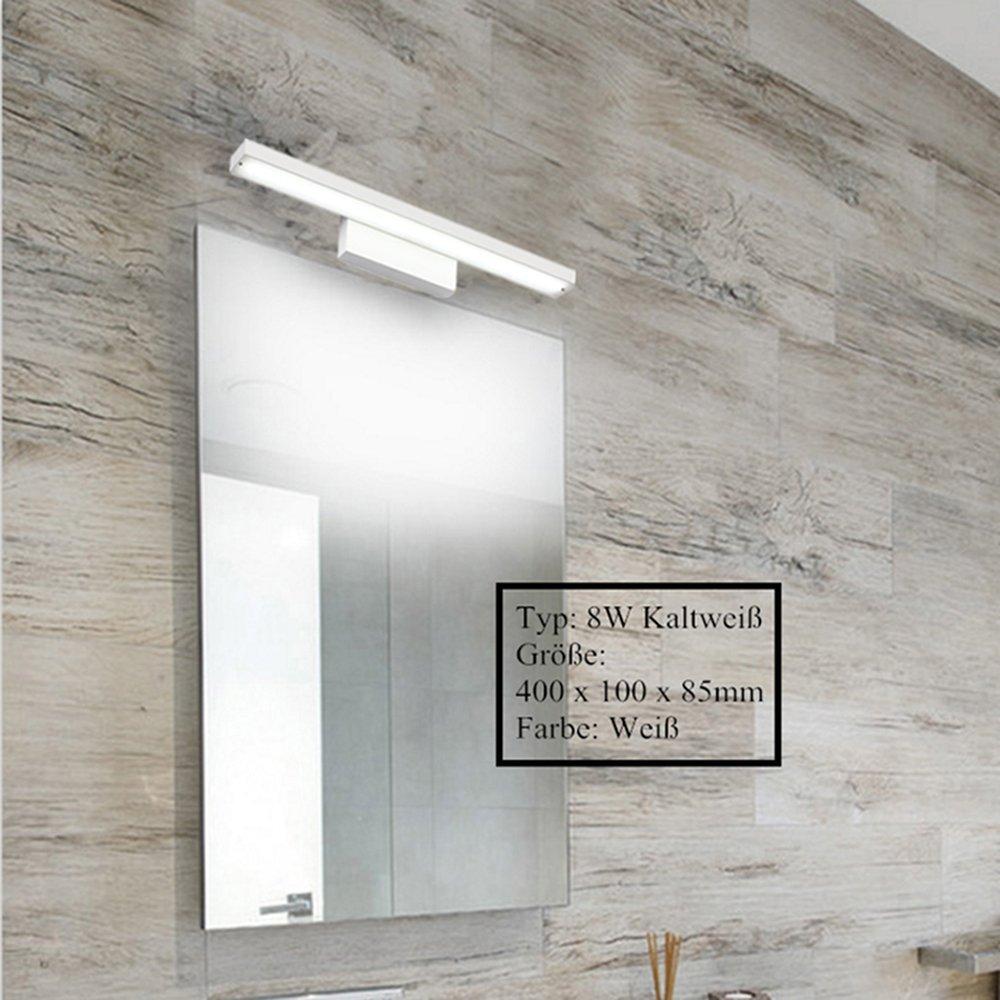 12W Lampada Specchio lampada da parete della lampada bagno in acciaio inox Bianco caldo bagno dilluminazione 600 mm impermeabile Nero elegante alla moda