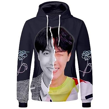 b8907cbd Amazon.com: Kpop BTS Hoodie Bangtan Boys Love Yourself Jimin SUGA ...