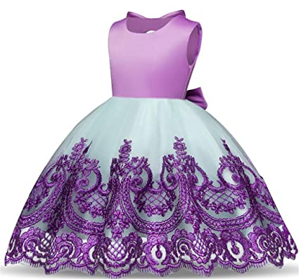 6041b1841 Image Unavailable. Image not available for. Color: SPP PANDA Flower Girl  Dresses for Weddings Purple Weddings Age 11-12 ...