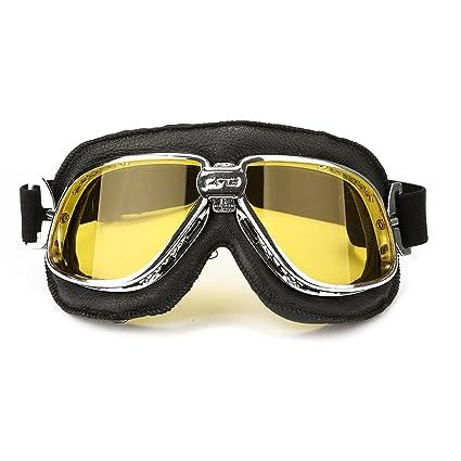 YONGYAO Motos, Moto Voladora Vespa Casco Gafas Anteojos Anti UV Amarillo