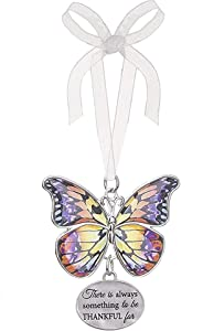 Ganz Home Decor Christmas/Spring Blissful Journey Butterfly Ornament (Always Something to be Thankful for EA13546)