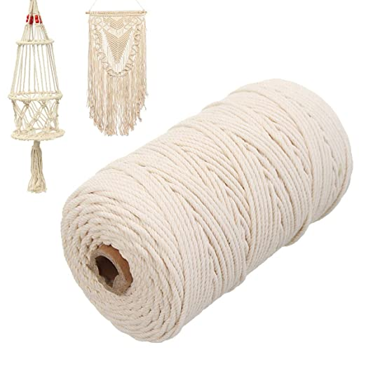 Greenpromise Cuerda de algodón Natural Beige Trenzada para ...