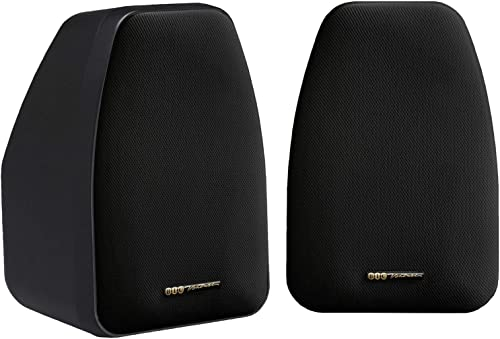 BIC AMERICA DV-32B 3 1 2 2-Way Compact Shielded Speakers – Black