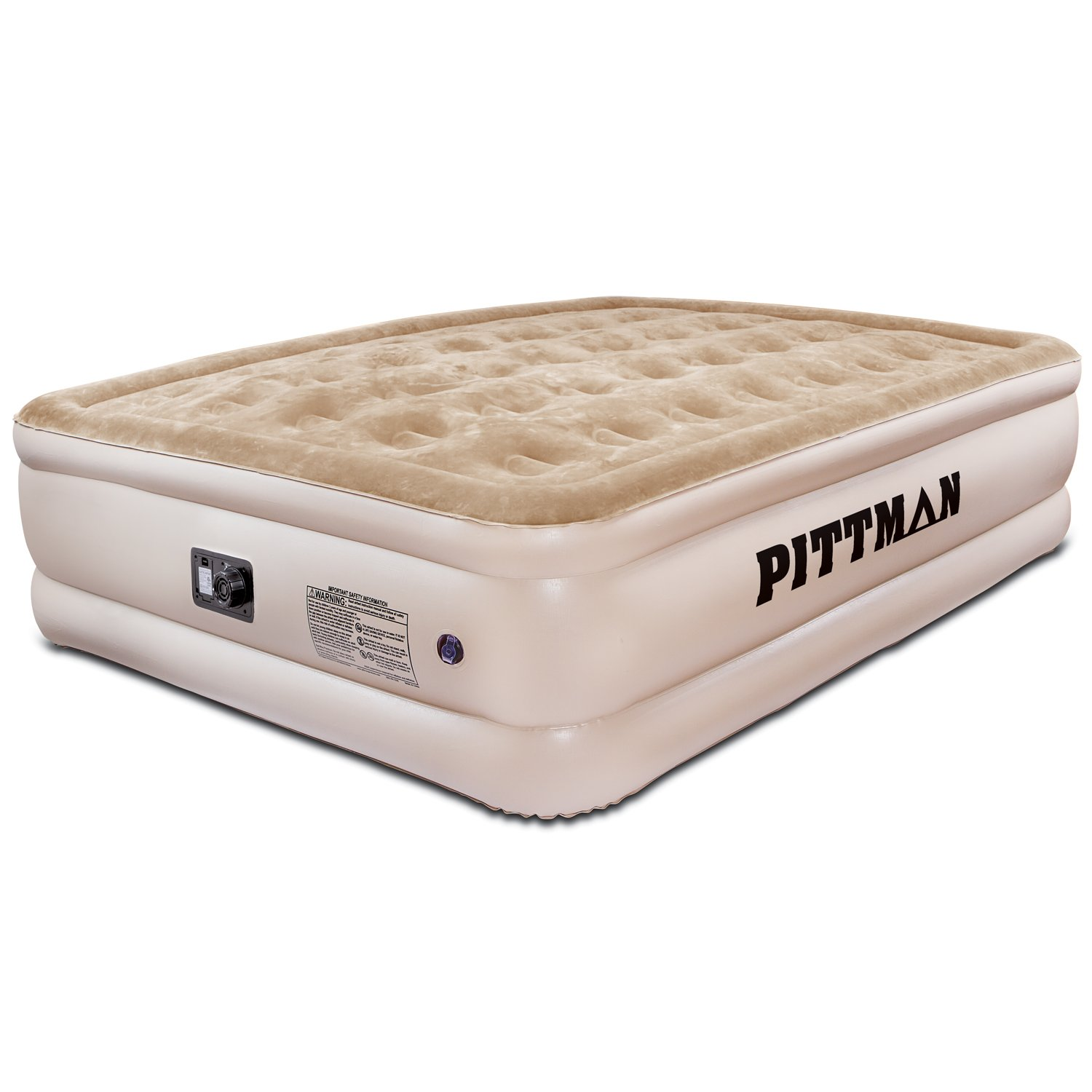 "Amazon.com: Pittman Outdoors PPI QCDH2 Queen Ultra Tan 20"" Double High  Indoor Home Air Mattress: Automotive"