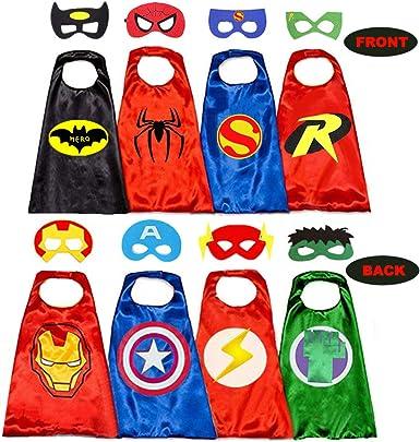 Amazon.com: Capas de superhéroe para niños, 8 héroes ...