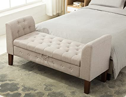 Amazon.com: Yongchuang Tufted Storage Ottoman Bench Upholstered ...