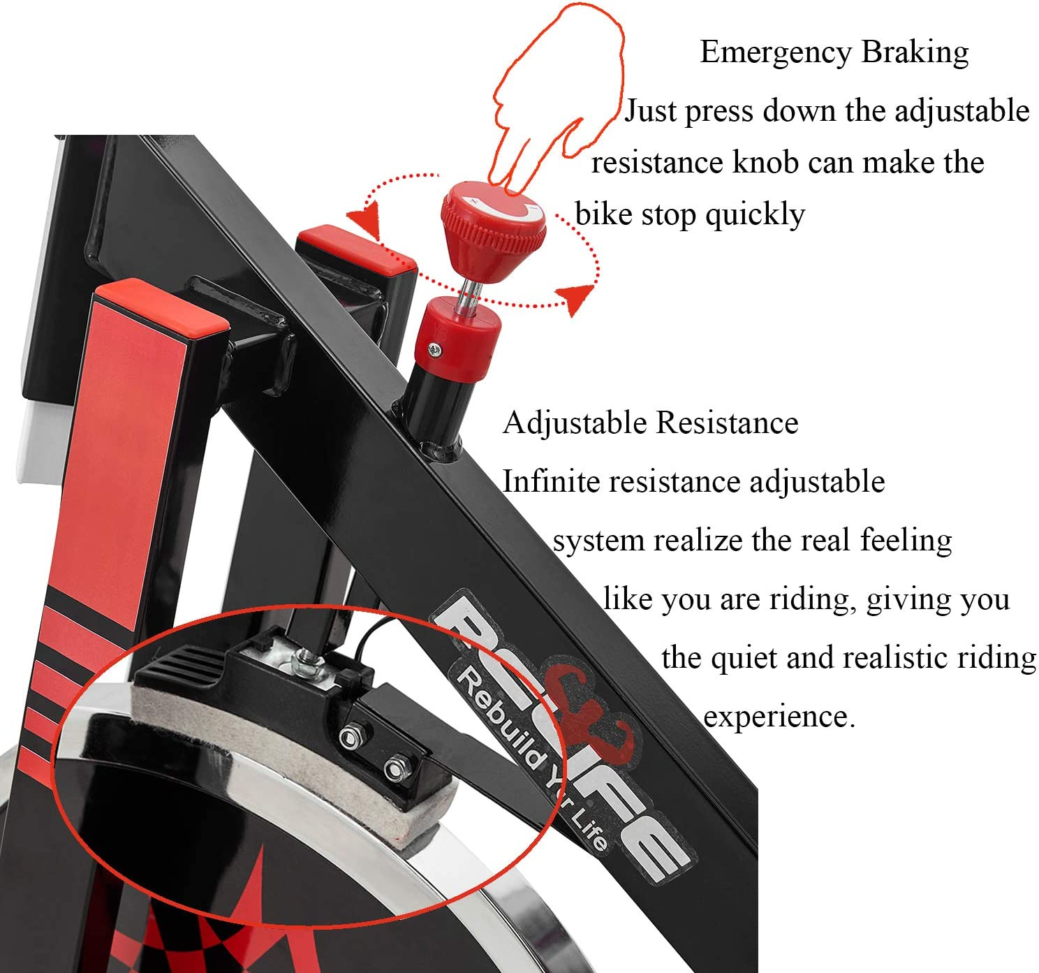 Relife - Bicicleta Spinning Profesional para Interior y Ciclismo ...