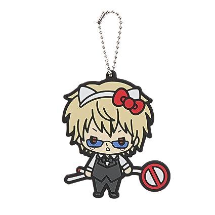9b5421afee8a Amazon.com  Hello Kitty X Durarara!! Shizuo Heiwajima Chibi Character  Keychain  Toys   Games
