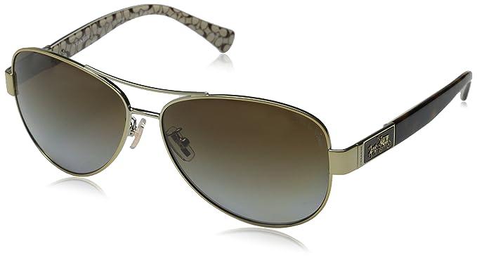2398e6ee40f ... new arrivals coach womens christina sunglasses hc7047 gold brown metal  polarized 59mm 4bdf5 9515e