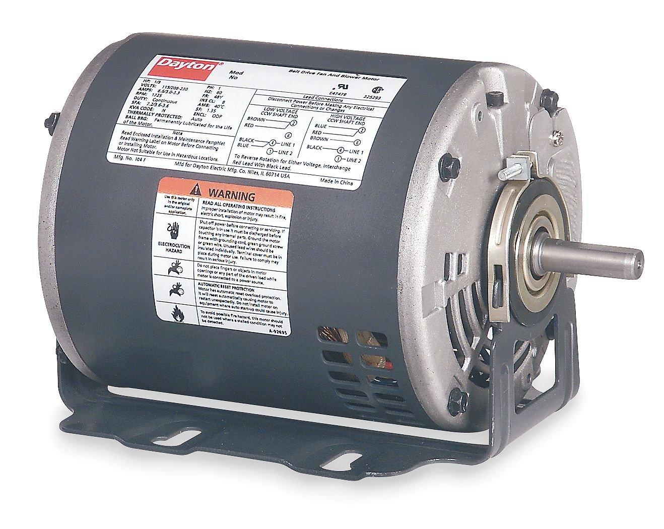 Dayton 3K384 Motor, 1/3 HP, 60hz, Belt