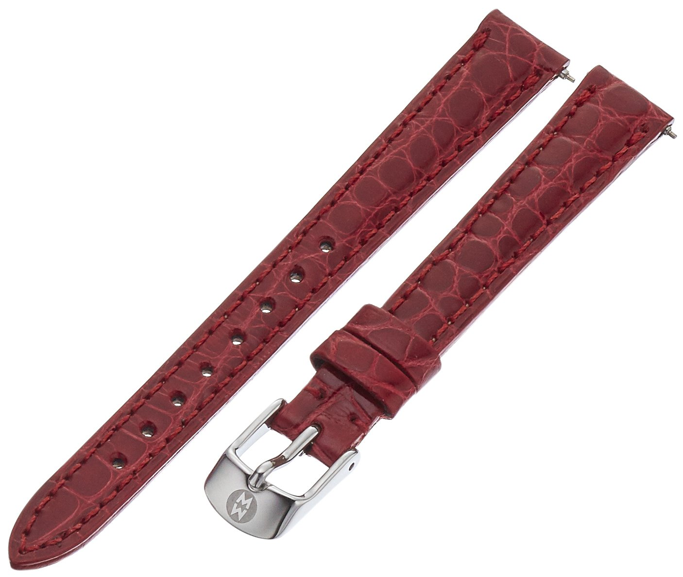 MICHELE MS12AA010611 12mm Leather Alligator Red Watch Strap