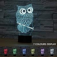 Coolzon 3D Led Lampara de Mesilla de Noche