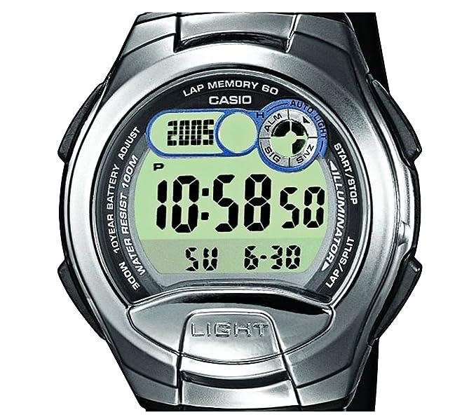 Casio Reloj Digital para Unisex de Cuarzo con Correa en Resina W-752-4B_P