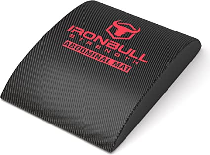 Exercise Ab Mat Sit Up Support Pad Abdominal Trainer Iron Bull Strength Abdominal Mat for Full Range of Motion Crunches