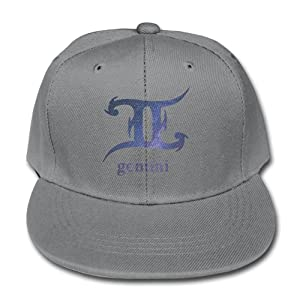 Gemini Zodiac Night Sky Symbol Adjustable Ash Kid Children Pure Baseball Cap