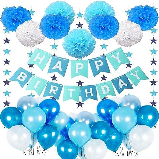 MMTX Bandera de Feliz Cumpleaños para Niños, Cumpleaños ...