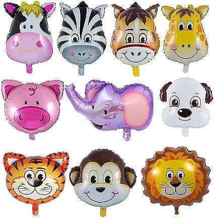 1 X Tiere Nummer Luftballon 1-6 Zoo Geburtstag Partydekorationen Kinder