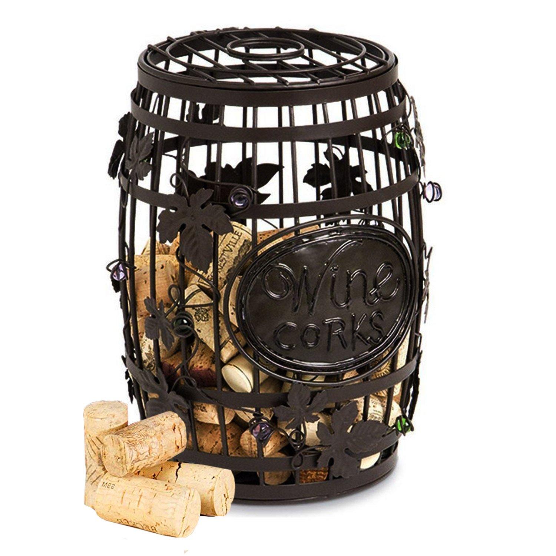Beaut Cork Cage Wine Barrel Wall Unit, 12.25-Inch