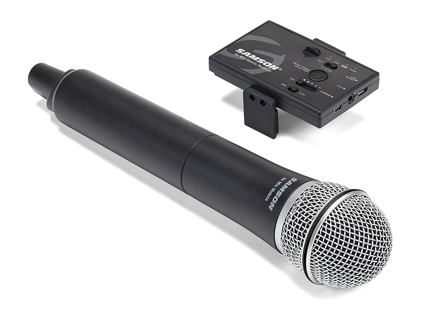 f7a73018b8ff Amazon.com: Samson Go Mic Mobile Professional Handheld Wireless System for  Mobile Video: Musical Instruments