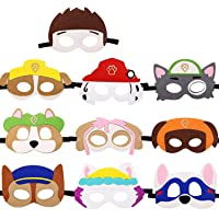 LETOP 10 Pack Paw Dog Patrol Masks Birthday Cosplay Party Favors for Kids
