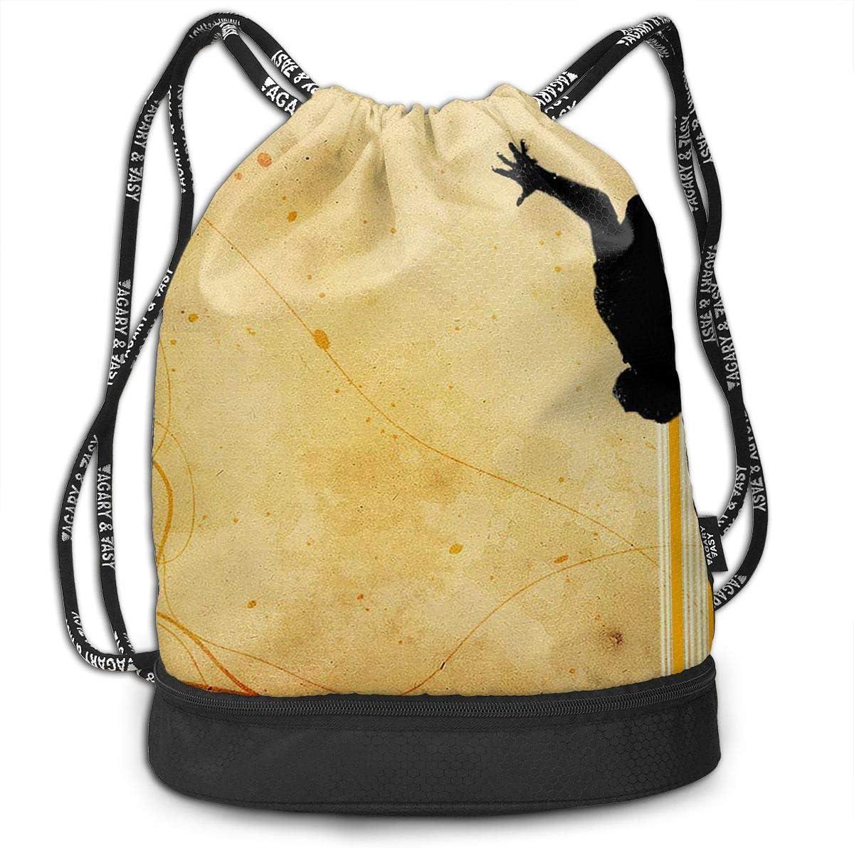 Boxing Fight Unisex Gym Drawstring Shoulder Bag Backpack String Bags