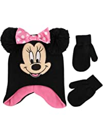 2acd68b34a8 Disney Girls  Toddler Minnie Mouse Character Hat and Mittens Cold Weather  Set