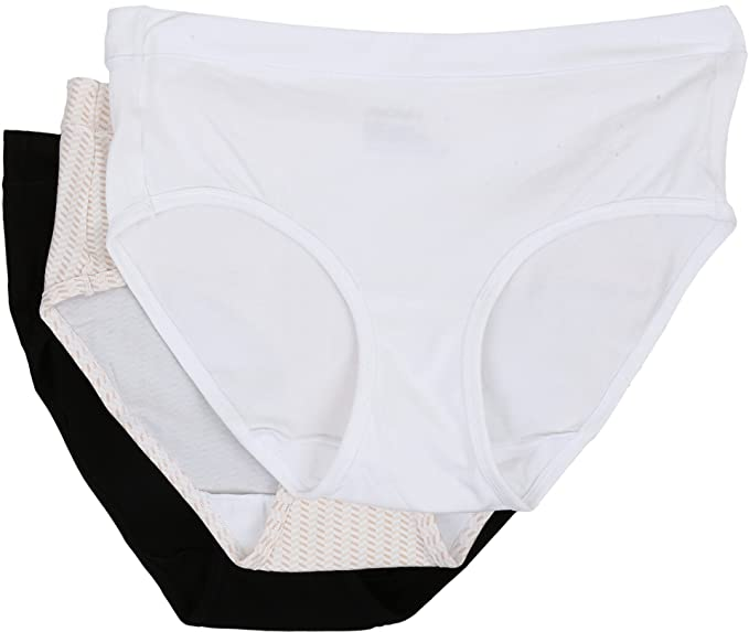 2b3ecaf09f80 Jockey Women's Elance Stretch Hipster - 3 Pack White/Chevron Sand/Black 5