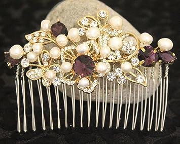 Amazon Com Boho Bridal Headpiece Pearl Hair Accessories Bohemian