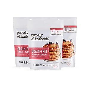 Purely Elizabeth Grain-Free Pancake Mix - Paleo Pancake | Gluten-Free Certified | Dairy-Free & Non-GMO | 100% Vegan Delicious Breakfast | 10oz
