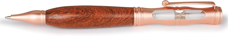 Flat Rose Gold WoodRiver Hourglass Twist Ballpoint Pen Kit