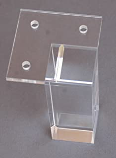 Modern 4 inch Clear Acrylic Sofa Legs Pack of 4 Furniture Feet