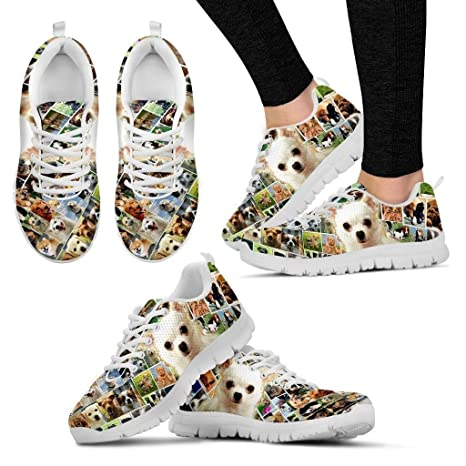 0e4fd2966bb9a Amazon.com : Lovely Chihuahua Print Running Shoes - Dog Lovers Gifts ...