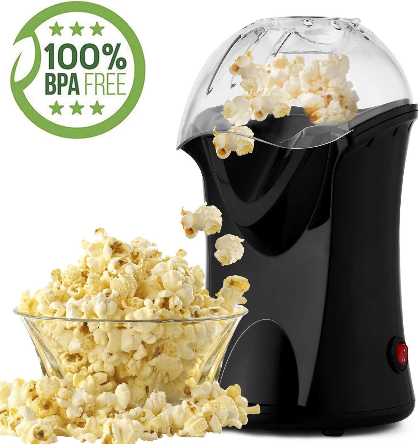 Bunao 1200W Máquina de Palomitas de maíz, Popcorn Machine | Retro ...