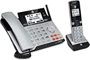 AT&T TL86103 DECT 6.0 Connect to Cell 2 Line Answering System with Caller ID/Call Waiting, 1 Corded & 1 Cordless Handset, Si