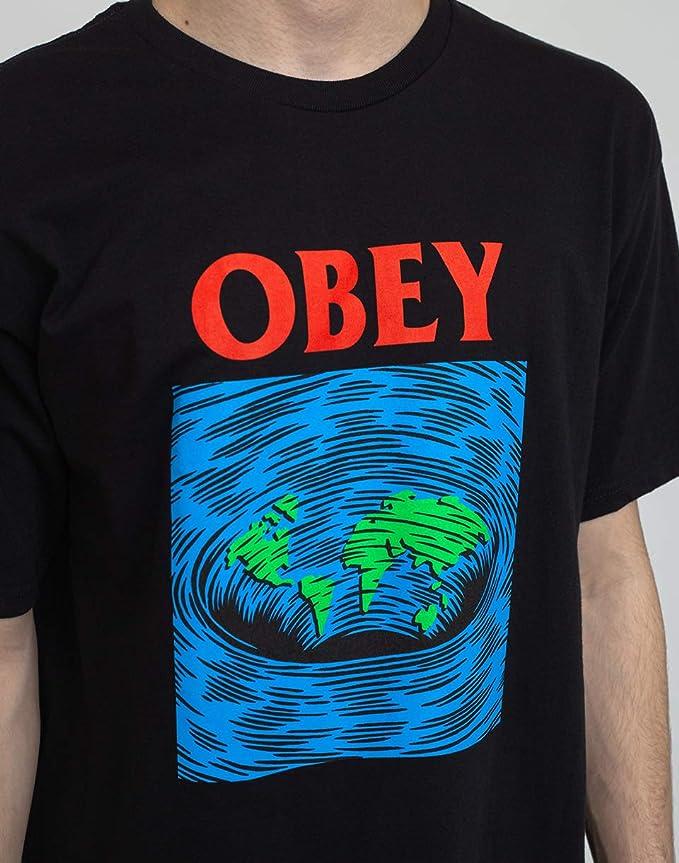 OBEY Worldpool Basic Tee Camiseta de manga corta producto original garantía 2020 Black: Amazon.es: Ropa y accesorios
