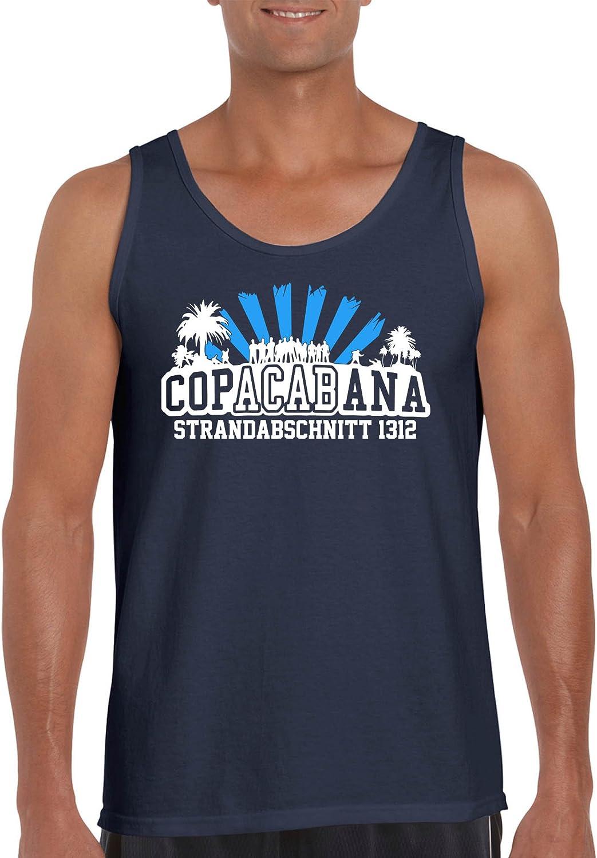 Comedy Shirts 100/% Baumwolle Rundhals Herren Tank Top Copacabana Strandabschnitt 1312 Top Basic Print-Shirt