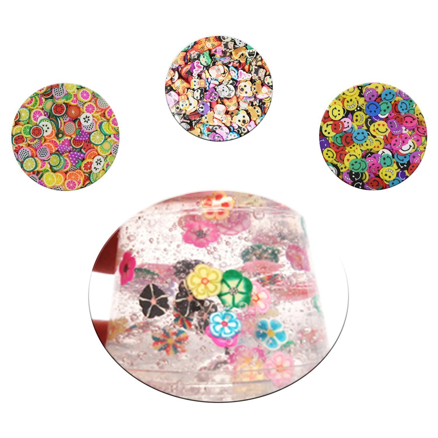 ... Foam Balls, Glitter Jars, Fruit Flower Animal Slices, Pearls, Slime Tools Slime Beads Charms for DIY Slime Making Art Craft Party Decor: Arts, ...
