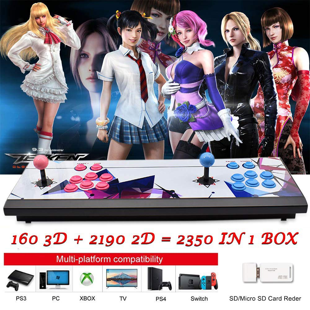 ElementDigital Arcade Game Console 1080P 3D & 2D Games 2350 in 1 Pandora's Box 2 Players Arcade Machine with Arcade Joystick Support Expand 6000+ Games