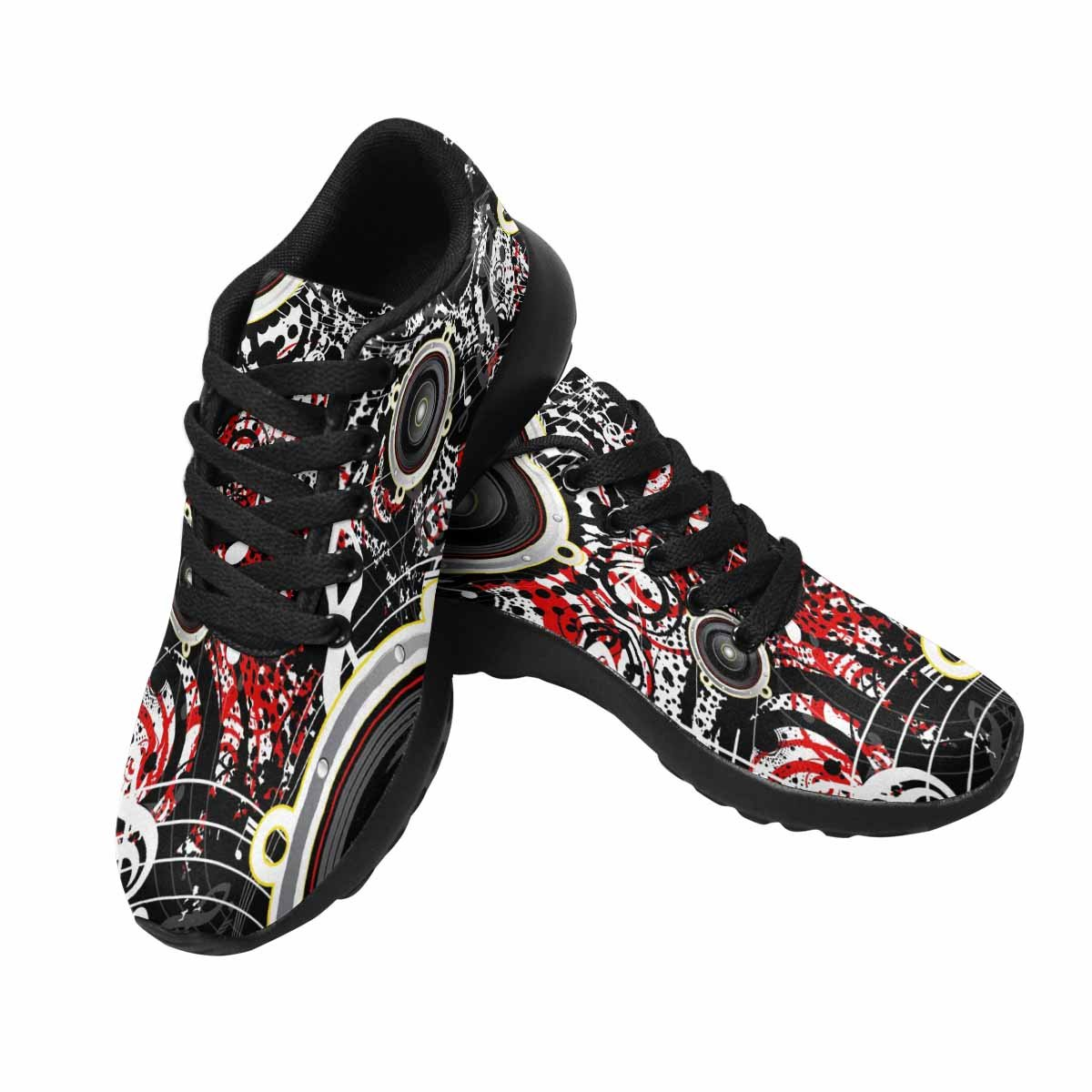 InterestPrint Women's Go Easy Walking Comfort Sports Athletic Shoes Musical Grunge Background, Retro Style US 7