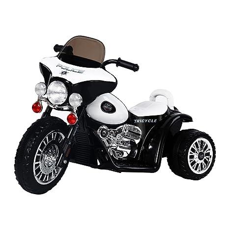 HOMCOM Moto Electrica Tipo Coche o Triciclo para Niños de +3 años, 6V,