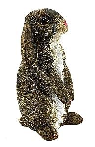 Elaan31 Rabbit Statue For Garden Den, Cute Bunny Figure Outdoor Decor