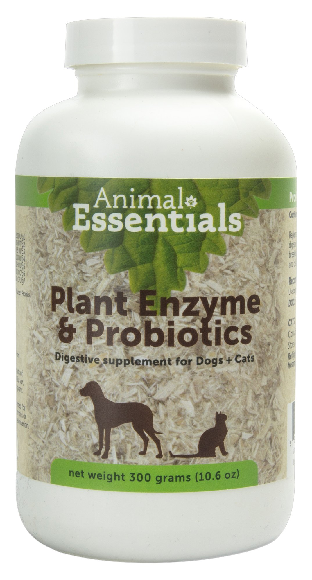 Animal Essentials Plant Enzyme & Probiotics Supplement for Dogs & Cats, 10.6 oz by Animal Essentials