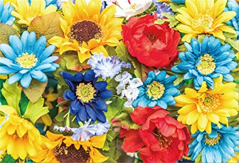 Amazon Com Csfoto 8x6ft Background For Colourful Blooming Flowers