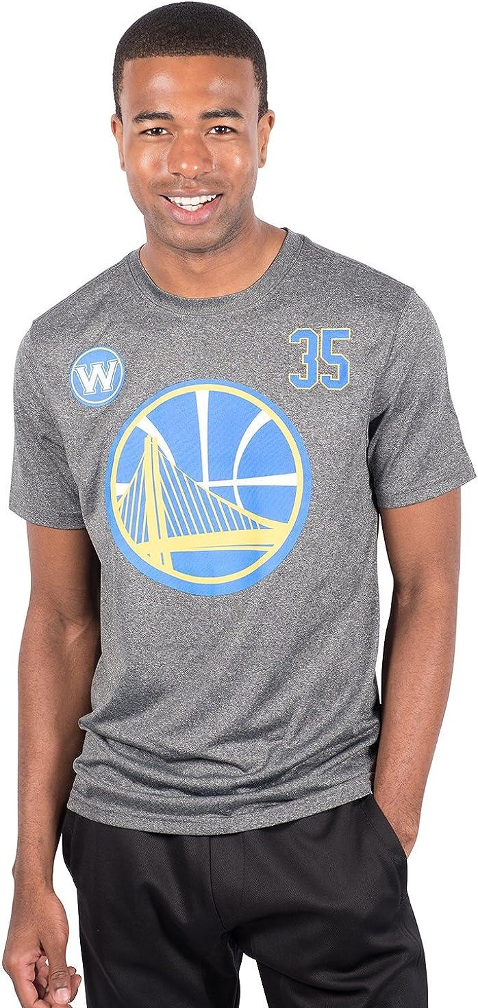 Charcoal NBA Kevin Durant Golden State Warriors Mens T-Shirt Short Sleeve Tee Shirt Small